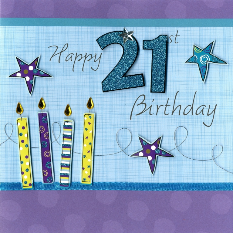 Second Nature Happy 21st Birthday Keepsake Card Luxury Handmade