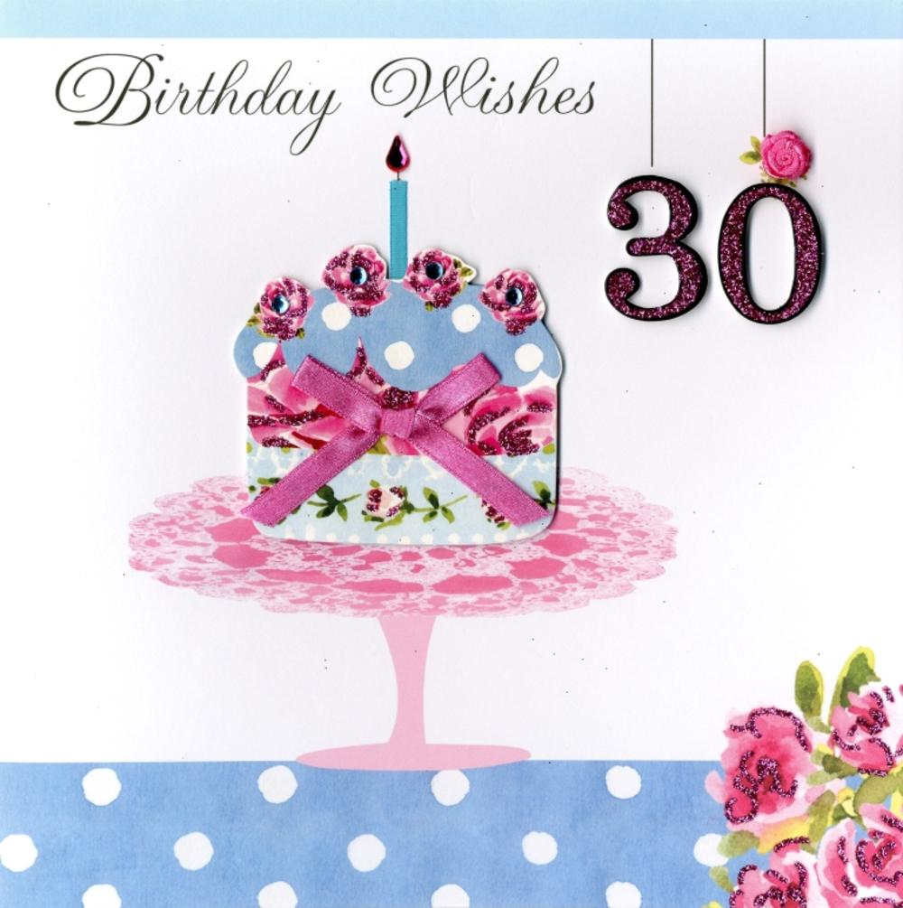 Second Nature 30th Birthday Keepsake Card
