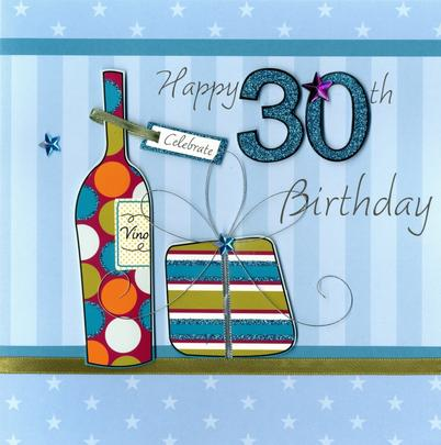 Second Nature 30th Birthday Keepsake Card