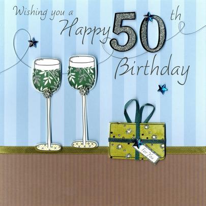 Second Nature 50th Birthday Keepsake Card