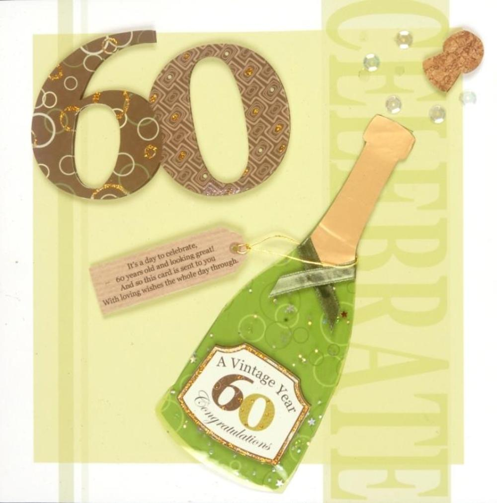 Second Nature 60th Birthday Keepsake Card