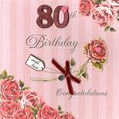 Second Nature 80th Birthday Keepsake Card