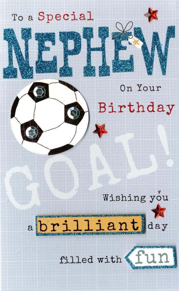 Happy Birthday Nephew Embellished Greeting Card Cards Love Kates