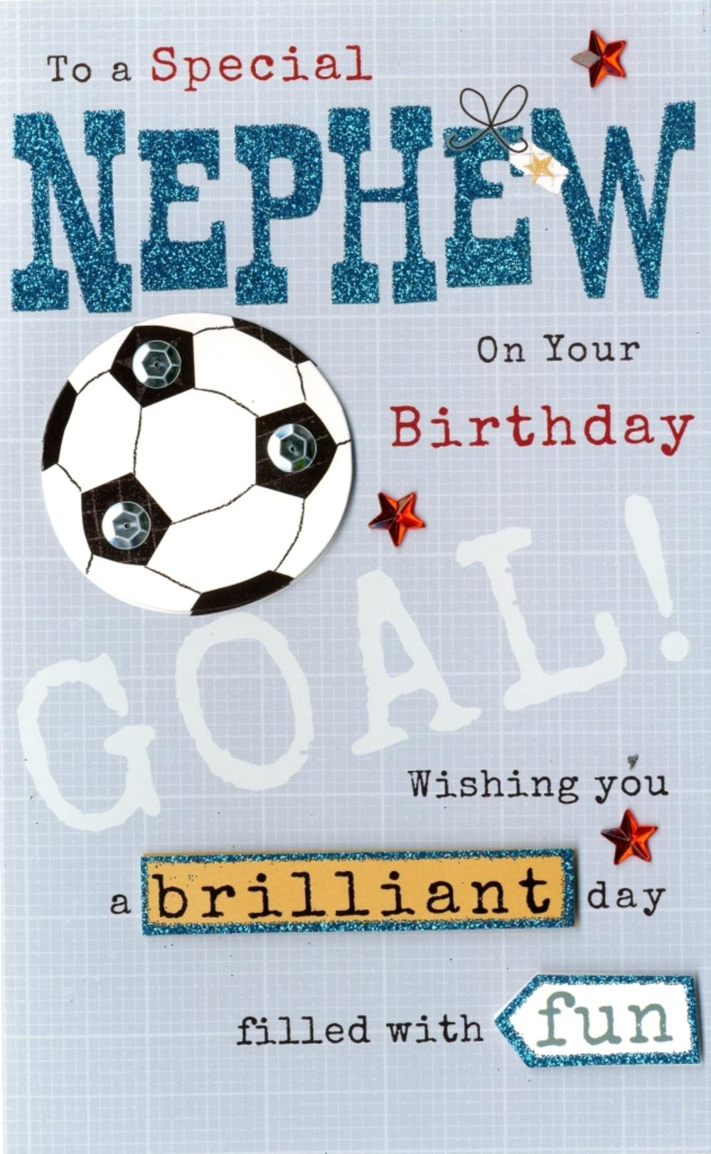 Happy Birthday Nephew Embellished Greeting Card Cards Love Kates