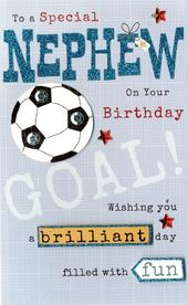 Happy Birthday Nephew Embellished Greeting Card