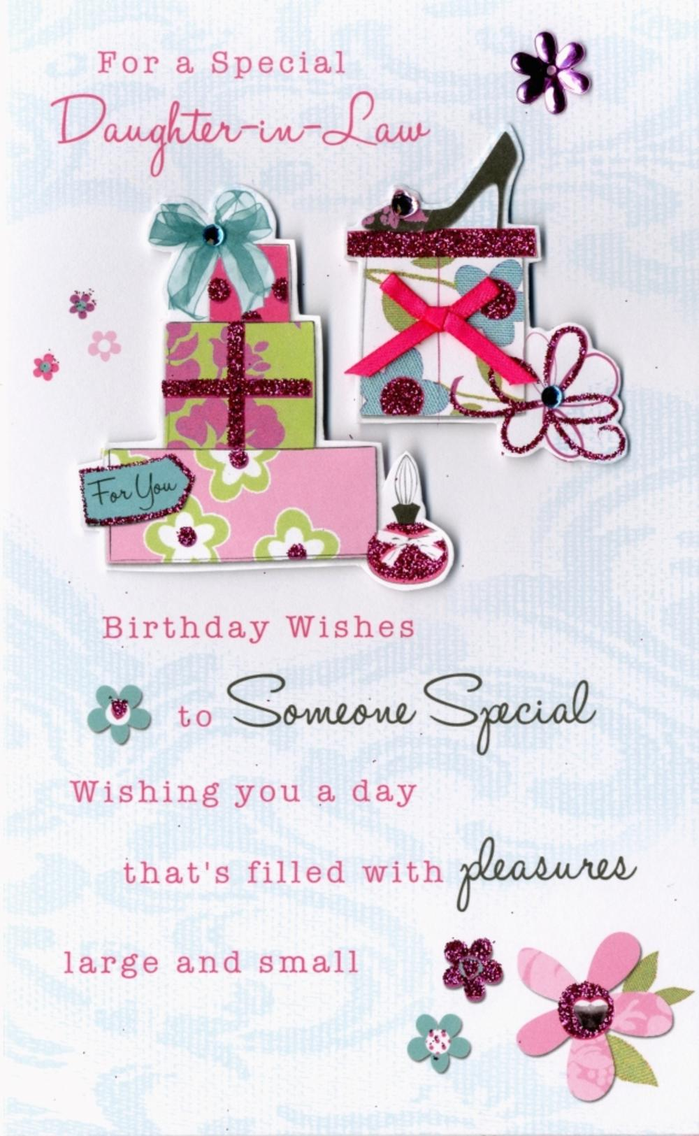 Happy Birthday Daughter In Law Greeting Card