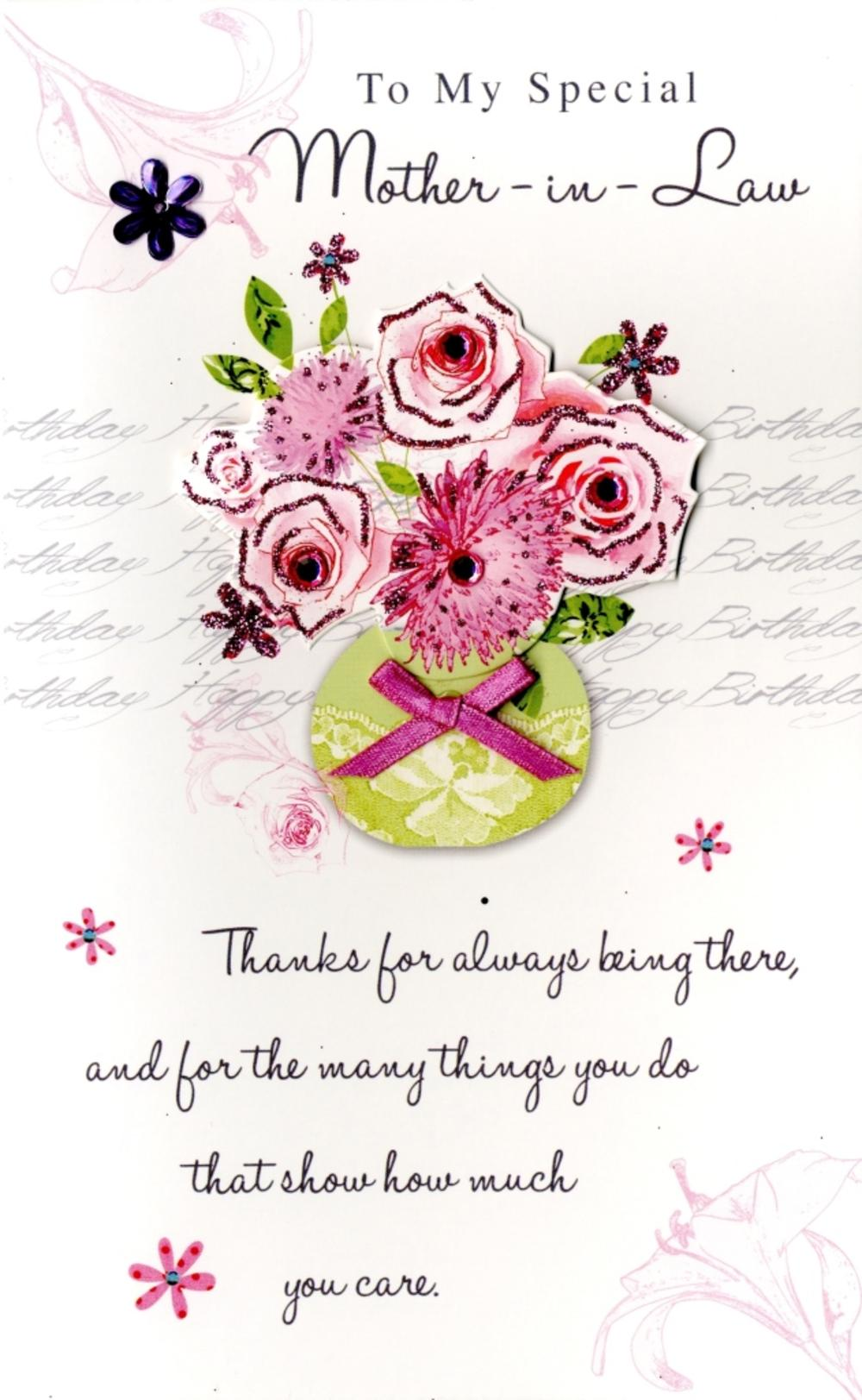 Happy Birthday Mother-In-Law Greeting Card