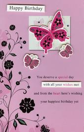 Happy Birthday Butterflies Greeting Card