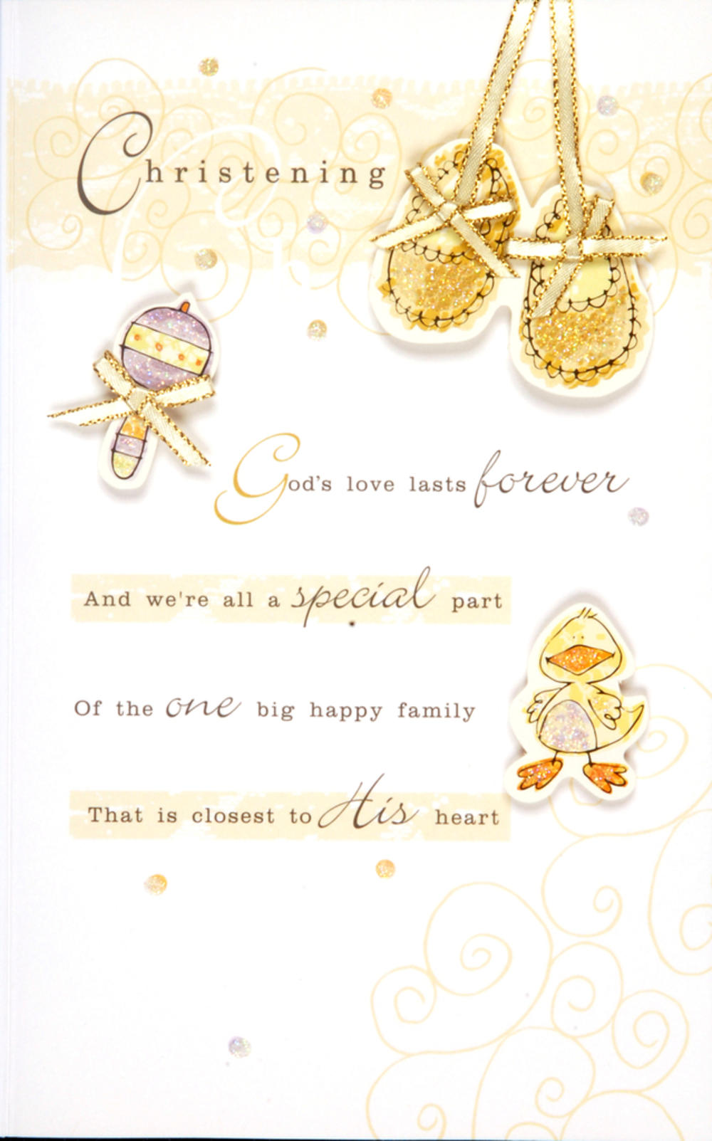 Baby's Christening Embellished Greeting Card