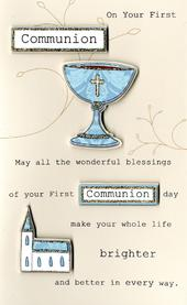First Communion Embellished Greeting Card