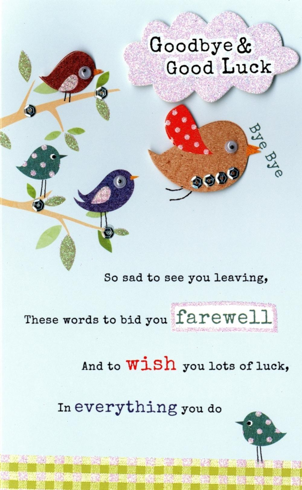 Farewell Greeting Cards