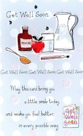Get Well Soon Embellished Greeting Card