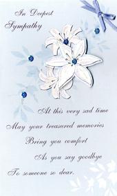 In Sympathy Embellished Greeting Card