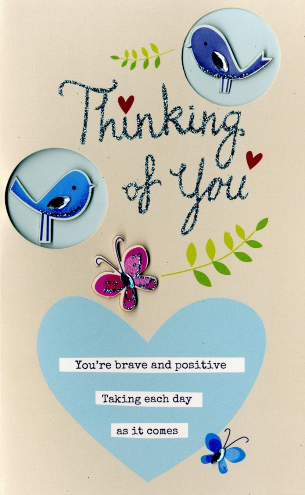 Thinking of you embellished greeting card cards love kates thinking of you embellished greeting card kristyandbryce Image collections