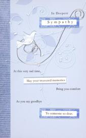 Deepest Sympathy Embellished Greeting Card