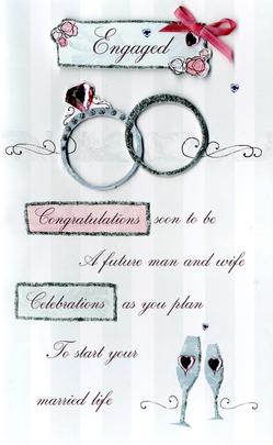Embellished Engagement Greeting Card
