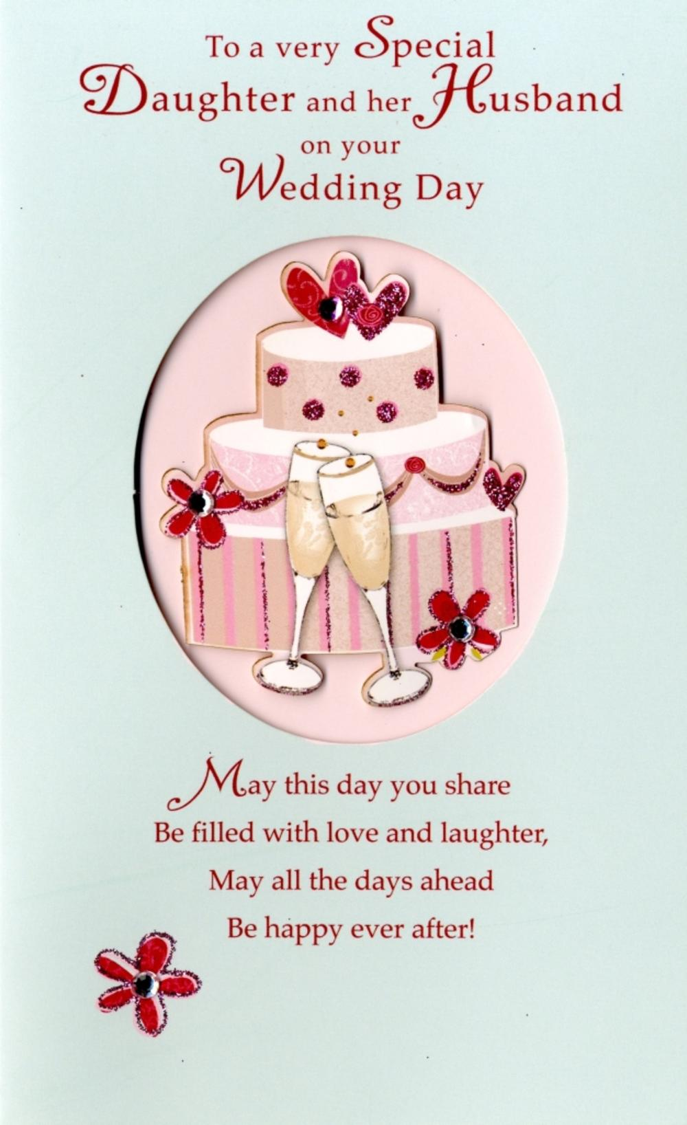 Daughter & Her Husband Wedding Day Card