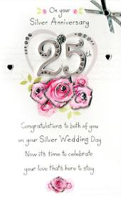 On Your 25th Silver Anniversary Greeting Card