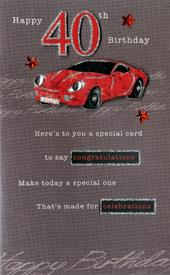 40th Male Happy Birthday Greeting Card