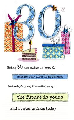 30th Happy Birthday Greeting Card