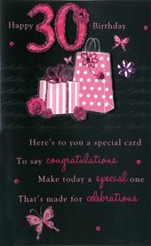 30th Female Happy Birthday Greeting Card
