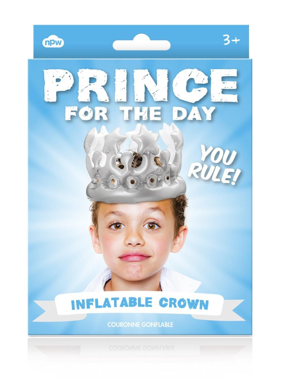 Prince For The Day Inflatable Birthday Party Crown