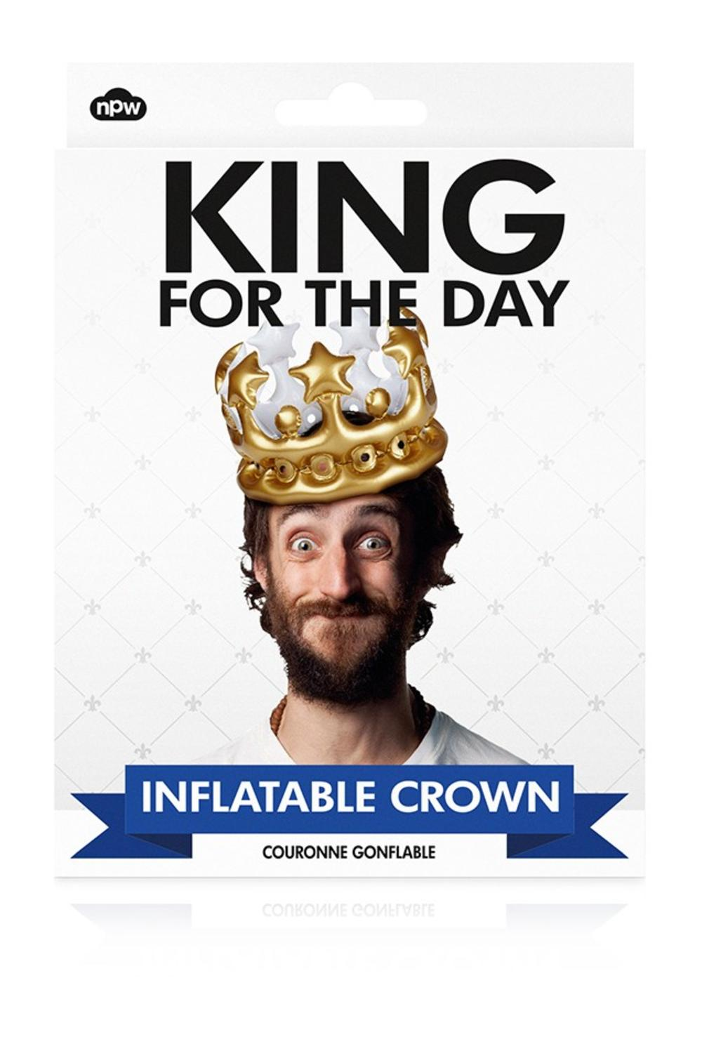 King For The Day Inflatable Birthday Party Crown