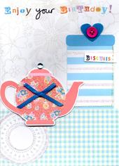 Enjoy Tea & Biscuits Handmade Birthday Card