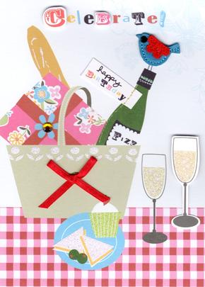 Celebrate Picnic Handmade Birthday Card