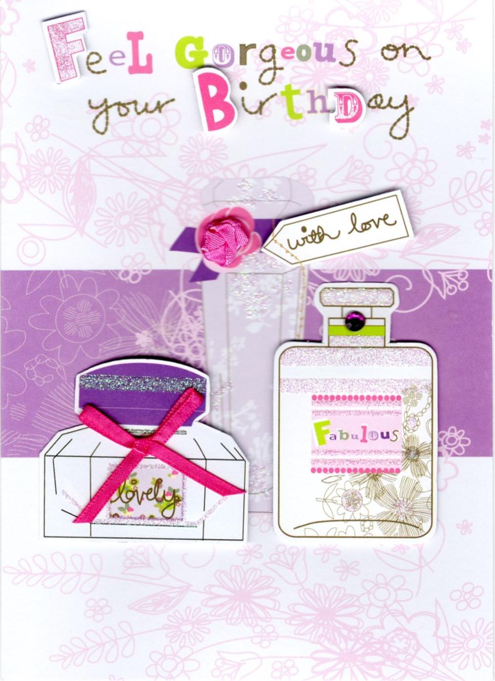 Feel Gorgeous Handmade Birthday Card