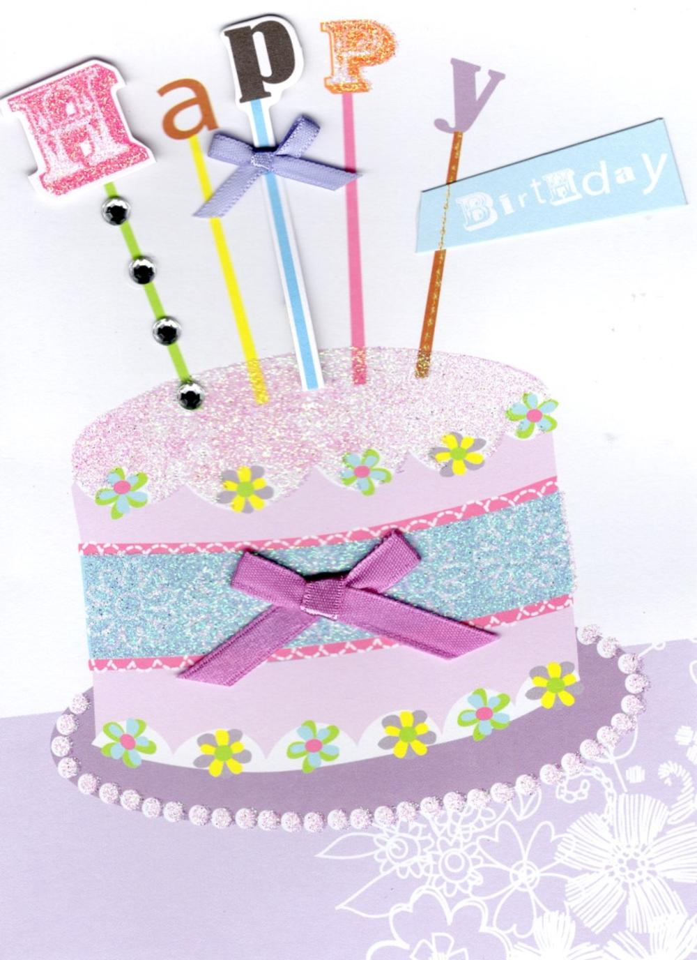 Hat Cake Handmade Happy Birthday Card