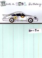 Cool Car Handmade Birthday Card