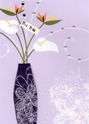For You Handmade Greeting Card Blank Inside