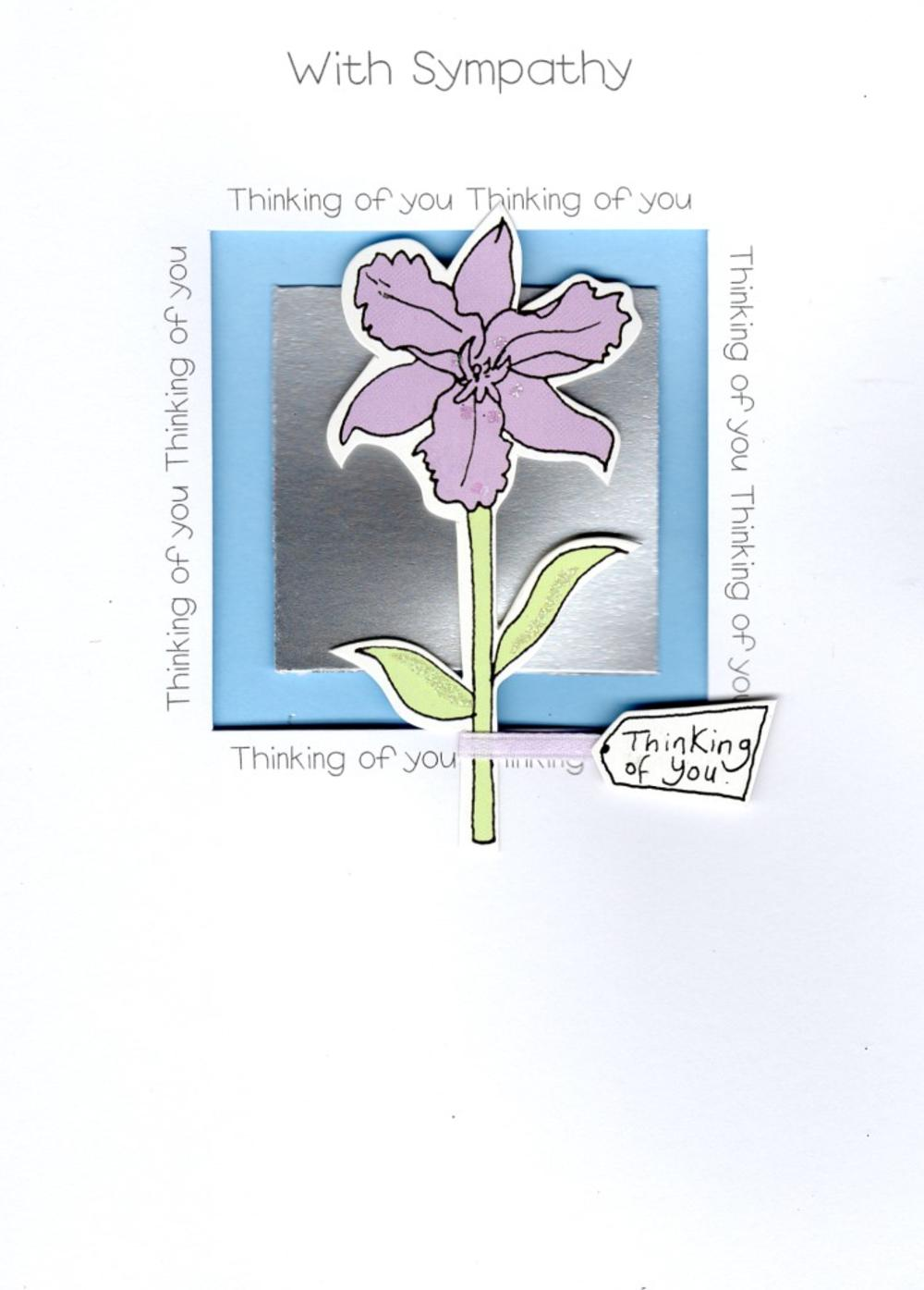 With Sympathy Thinking Of You Greeting Card