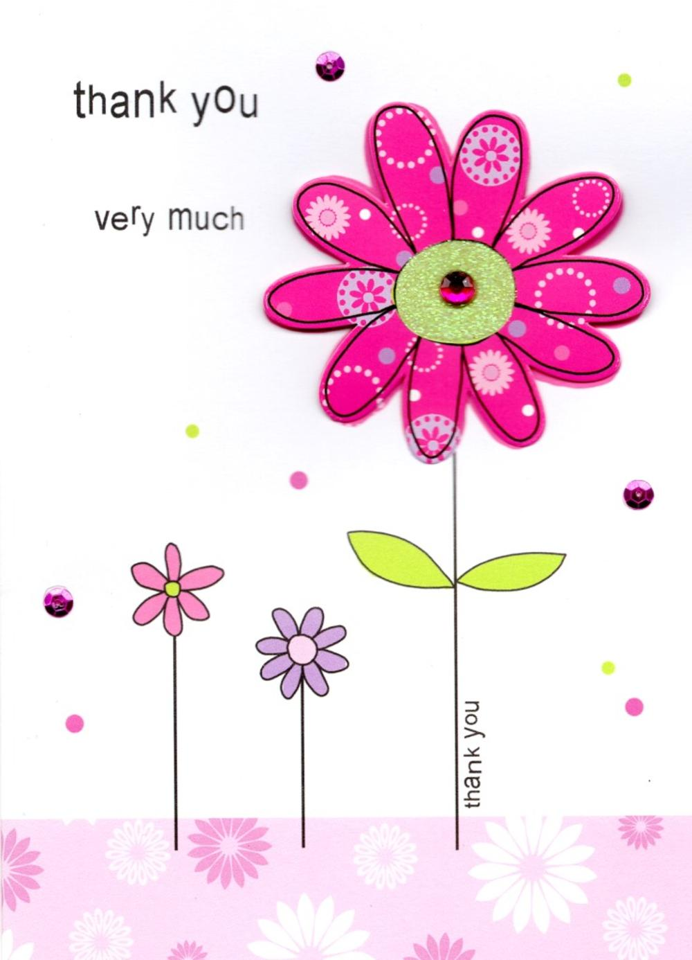 Thank you very much greeting card cards love kates thank you very much greeting card m4hsunfo