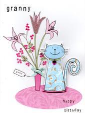 Cute Granny Handmade Happy Birthday Card
