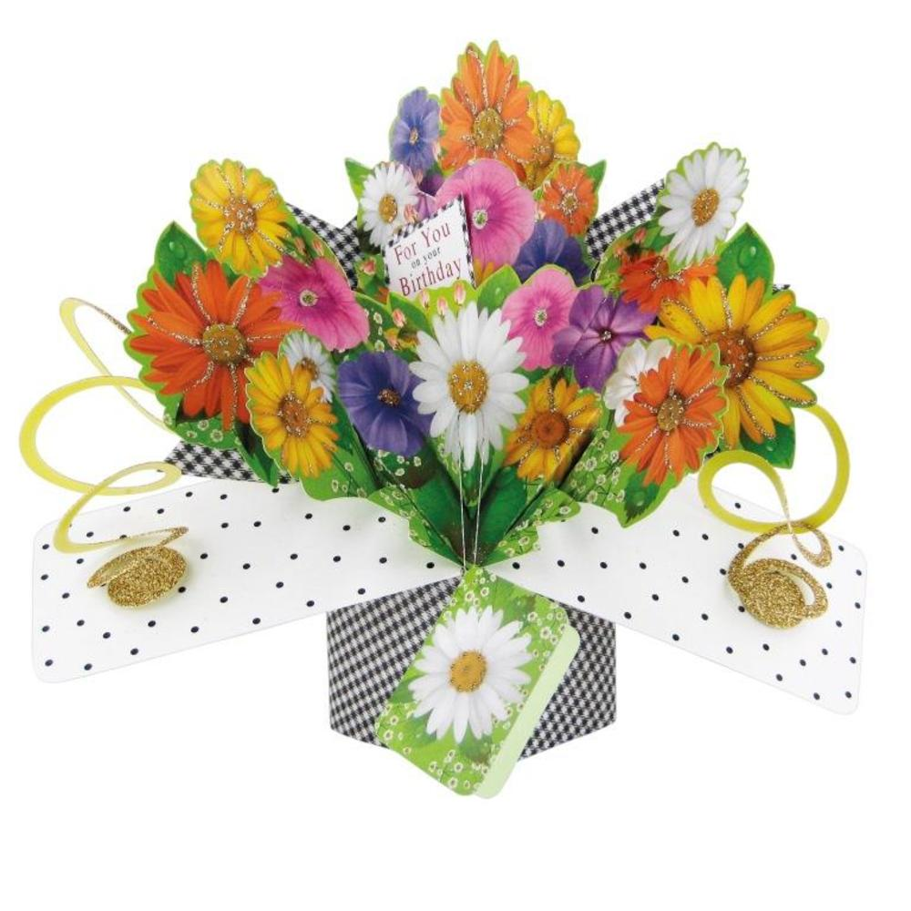 Flowers For You Pop-Up Birthday Greeting Card