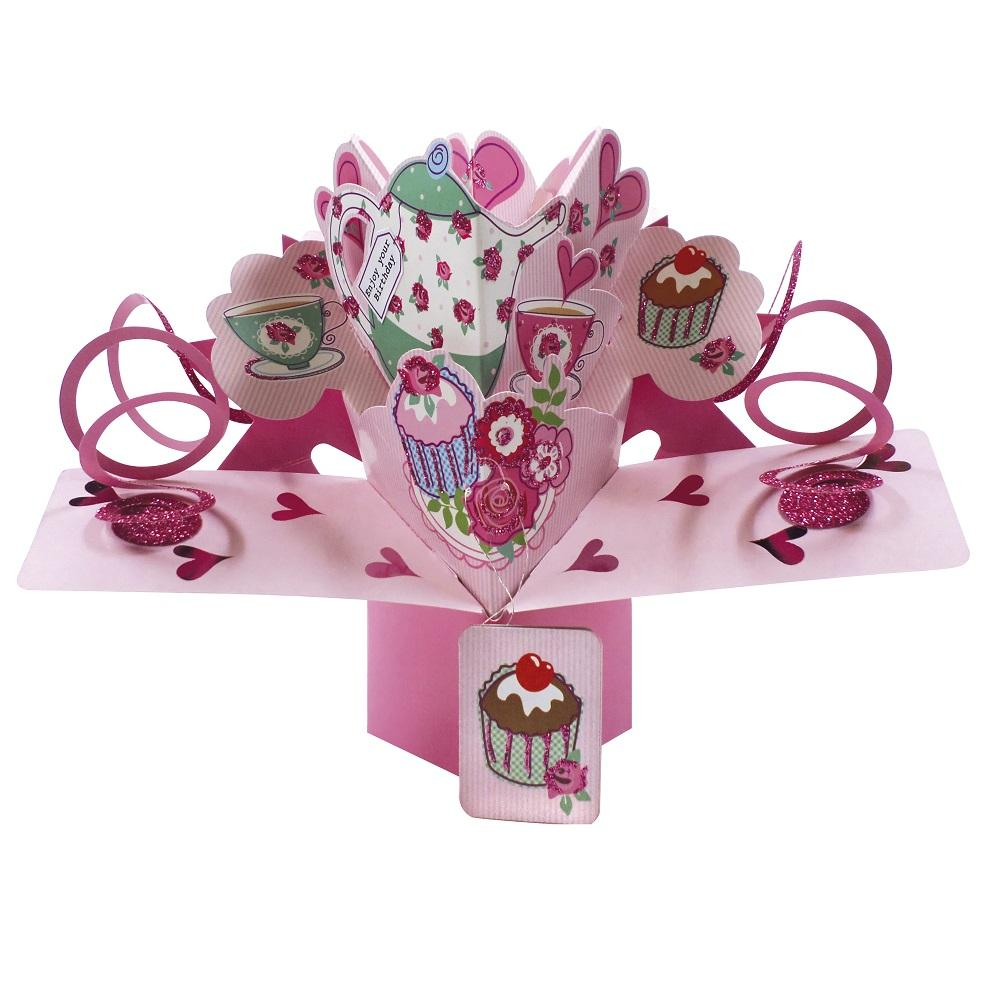 Birthday Tea Pop-Up Greeting Card