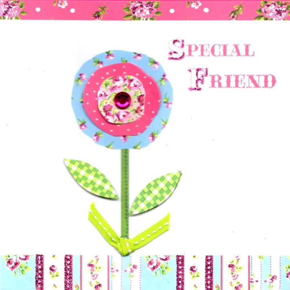 Special Friend Pretty Birthday Card