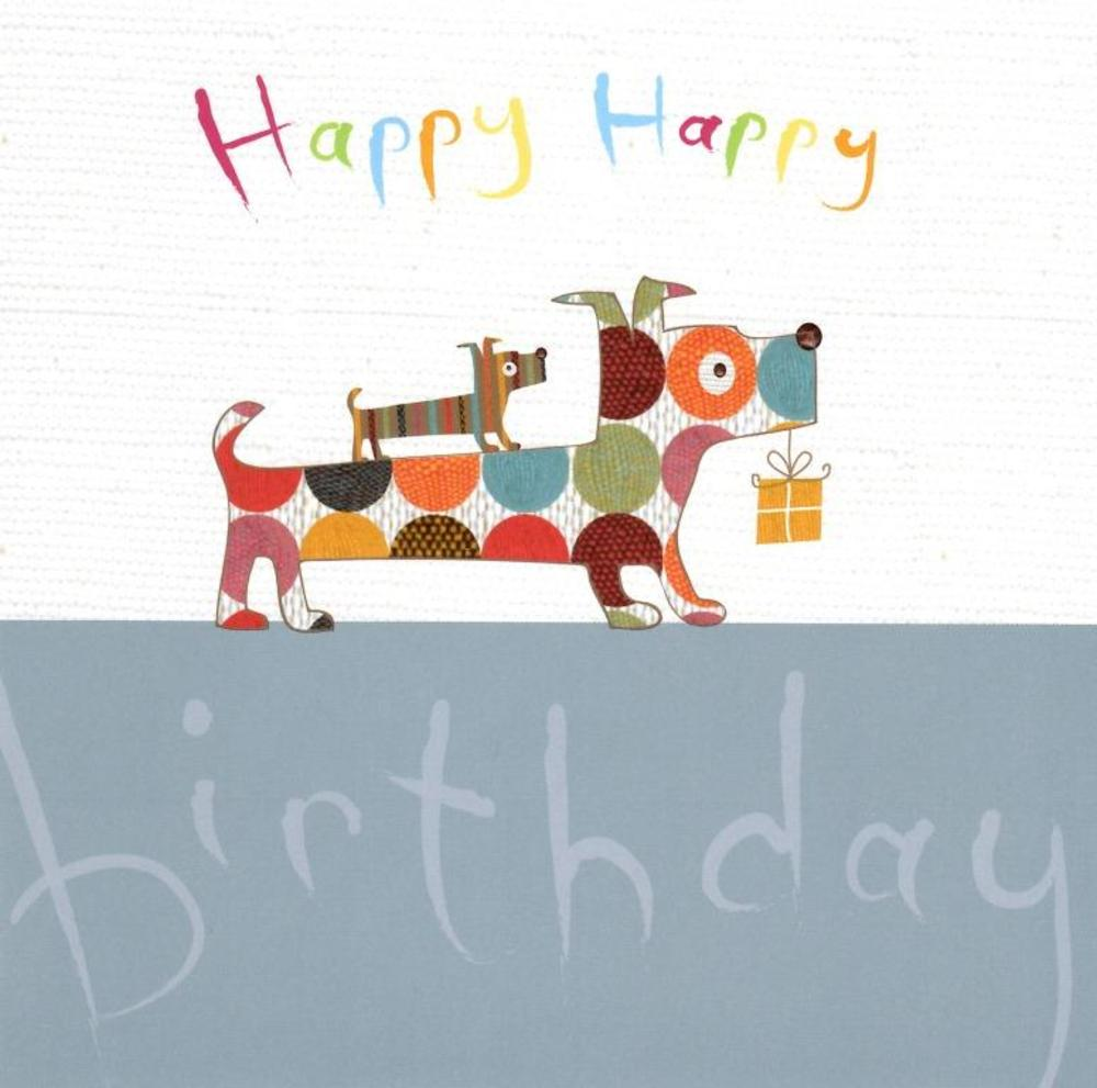 Happy Birthday Sausage Dogs Greeting Card