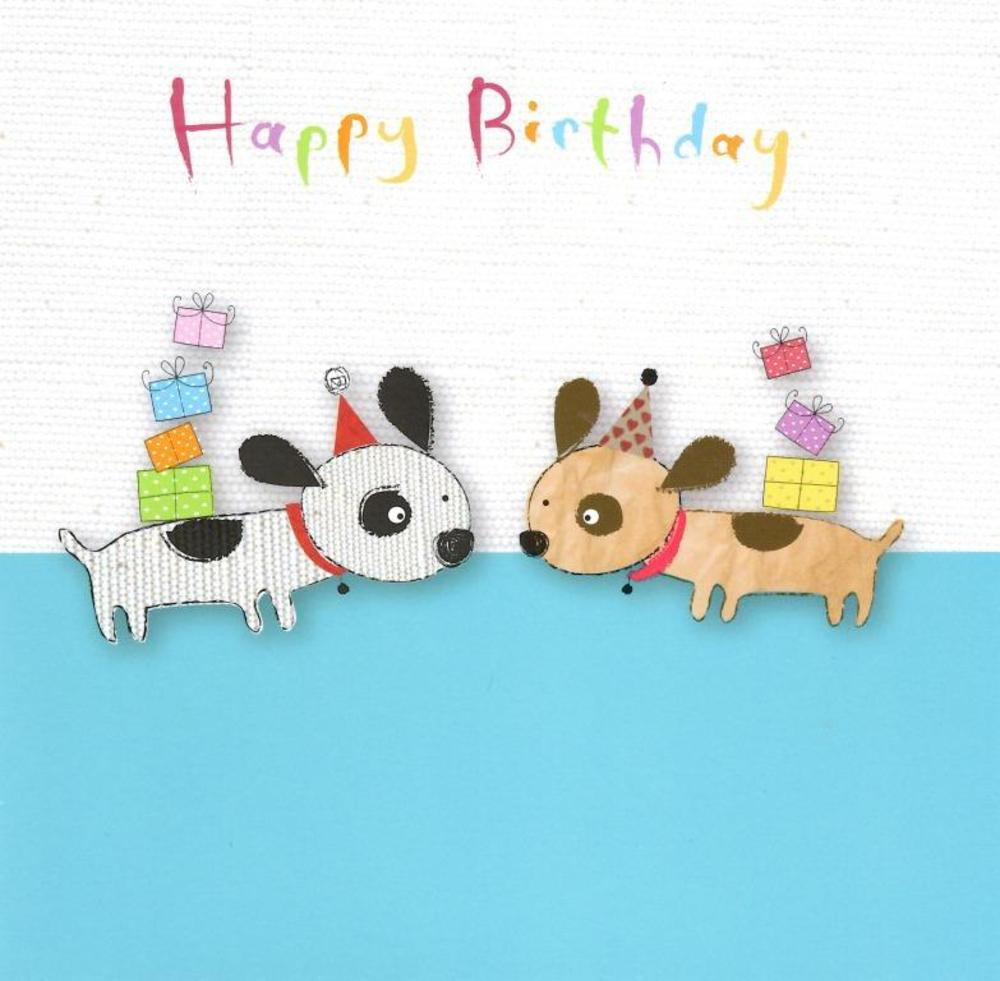 Happy Birthday Puppy Dogs Greeting Card