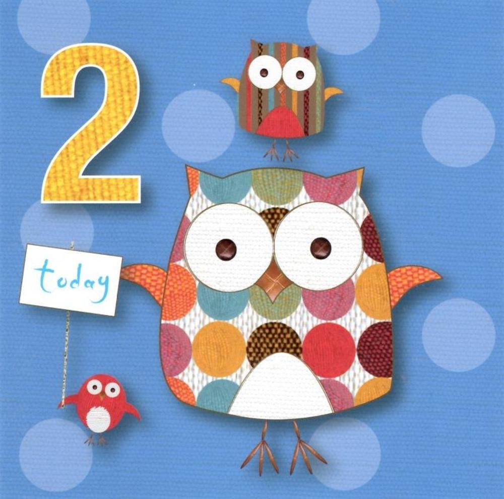 2 Today Boys 2nd Birthday Cute Greeting Card
