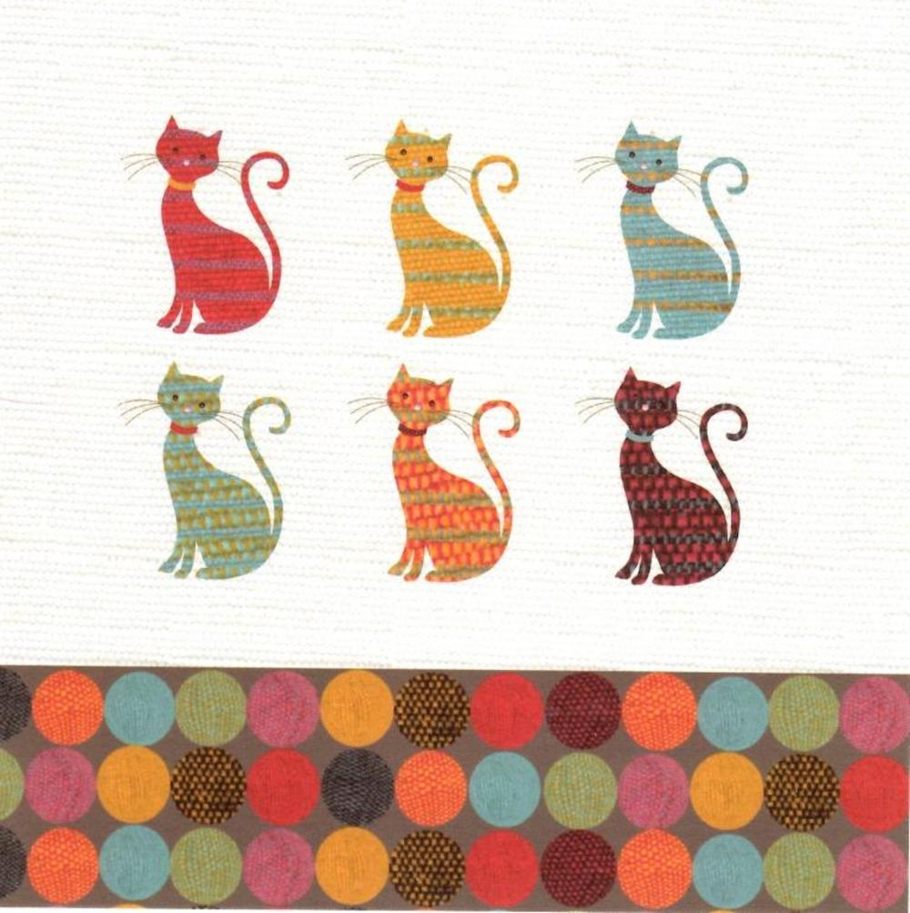 Pussy Cats Greeting Card Blank Inside