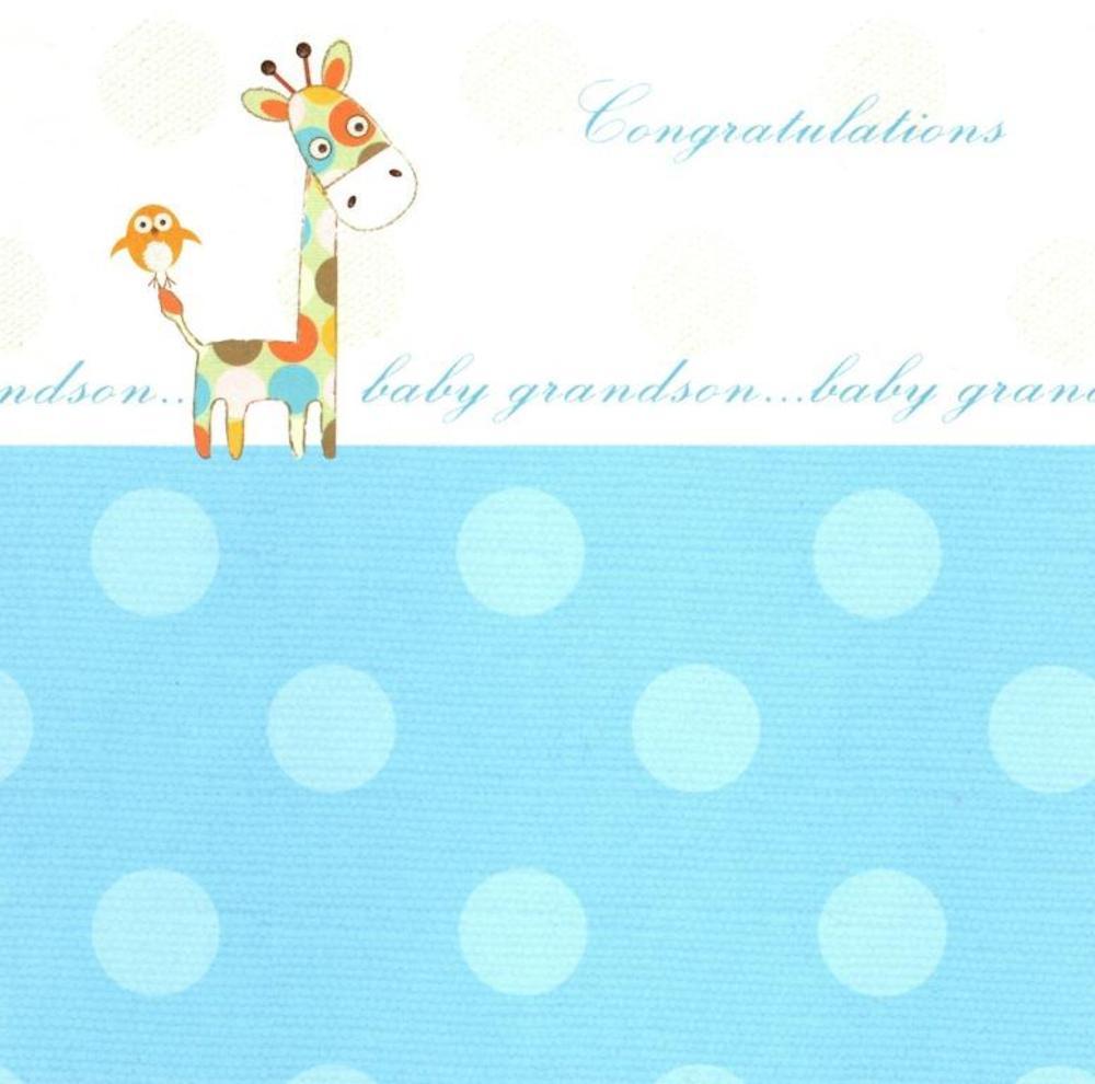 New Baby Grandson Greeting Card Blank Inside