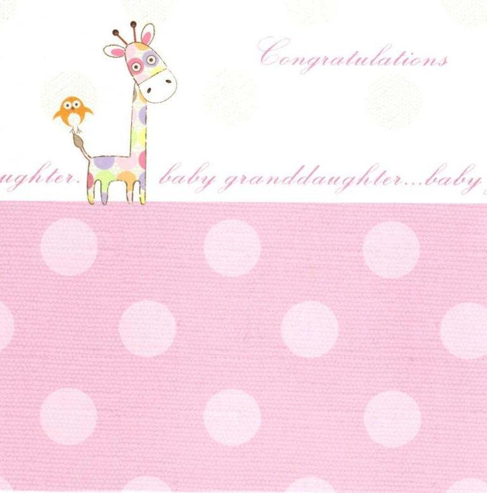 New Baby Granddaughter Greeting Card Blank Inside