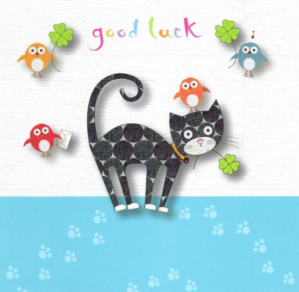 Good Luck Greeting Card Blank Inside