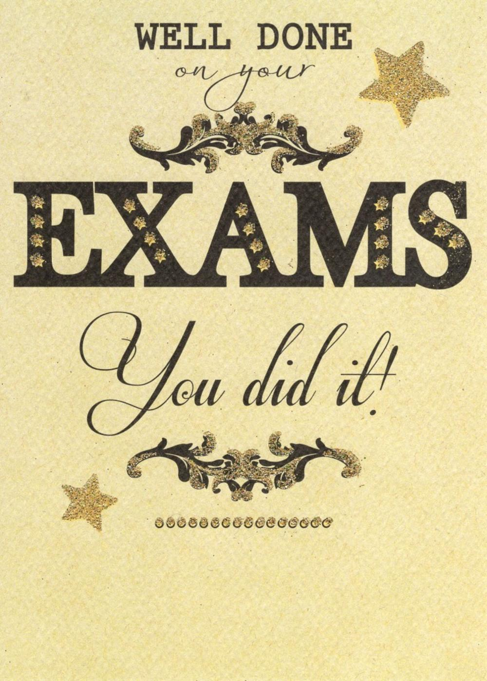 Well Done On Your Exams Greeting Card