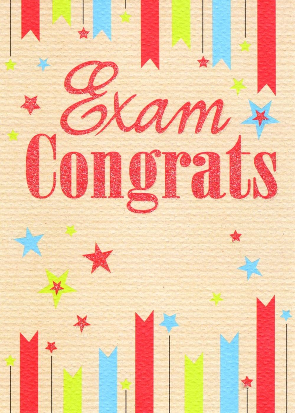 Congrats Exam Congratulations Greeting Card