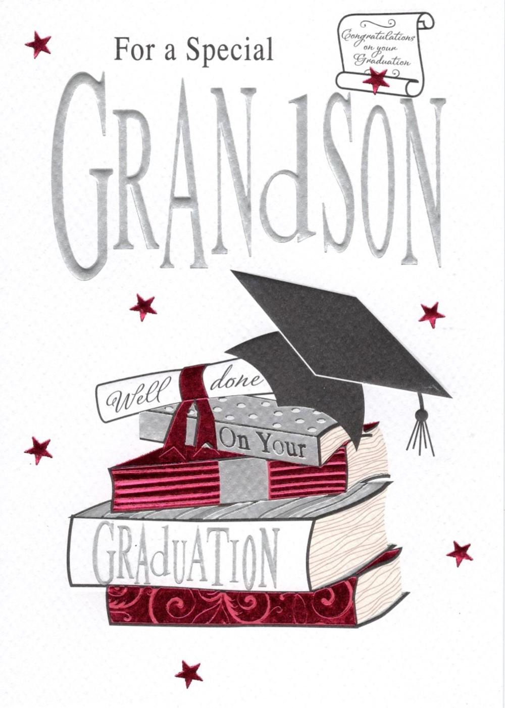 Grandson graduation greeting card cards love kates grandson graduation greeting card kristyandbryce Gallery
