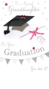 Granddaughter Graduation Congratulations Greeting Card
